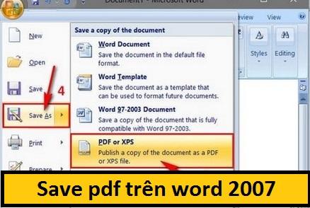 luu file pdfx bang word 2007