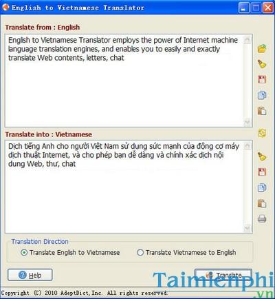 Download English to Vietnamese 2 3 0 - Dịch tiếng anh sang