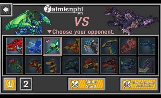 dino robot battle arena