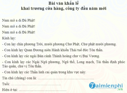 bai van khan le khai truong cua hang cong ty dau nam moi