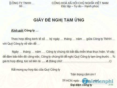 giay de nghi tam ung hop dong