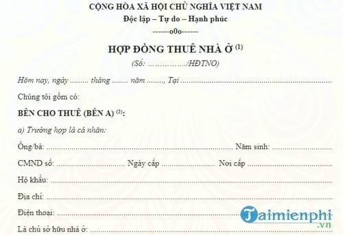 hop dong cho thue nha