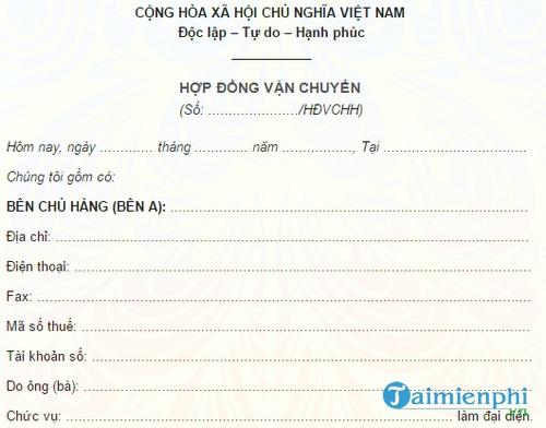 hop dong van chuyen