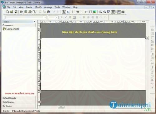 Phần mềm tạo mã và in mã vạch Bartender Barcode -taimienphi vn