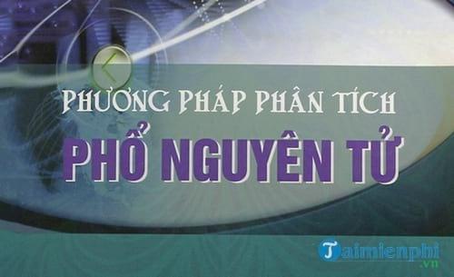 phuong phap phan tich pho nguyen tu