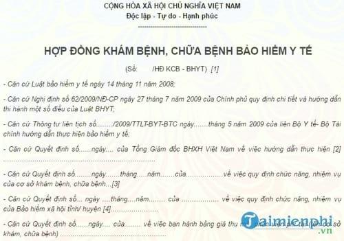 hop dong kham benh chua benh bhyt
