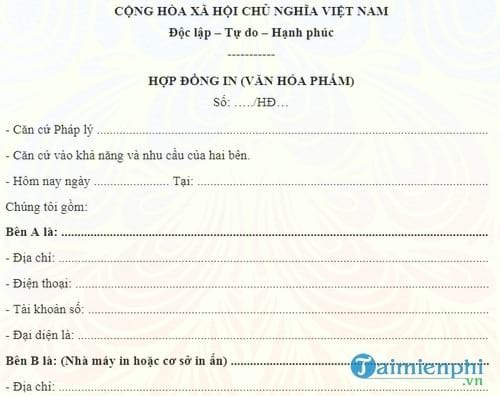 mau hop dong in an