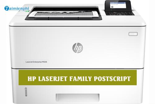 driver hp laserjet family postscript