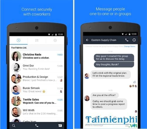 work chat by facebook