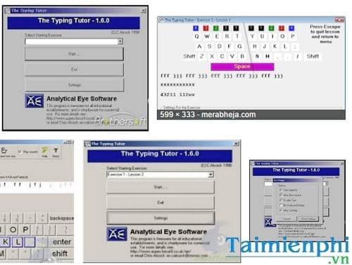 analytical eye typing tutor