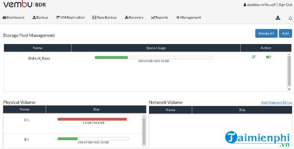 Download Vembu BDR Suite 3 9 1 - Phục hồi dữ liệu cho máy tính -taimie