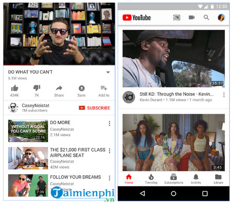 youtube cho android