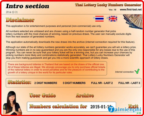 thai lottery lucky numbers generator
