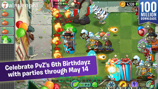 plants vs zombies 2 cho ios