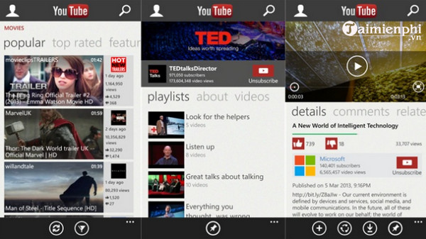 youtube cho windows phone