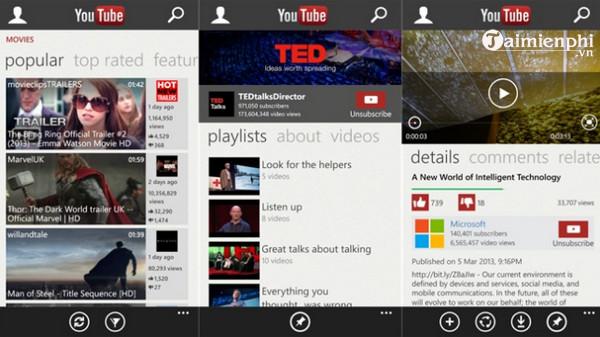 youtube cho windows phone