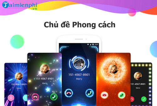 color phone flash