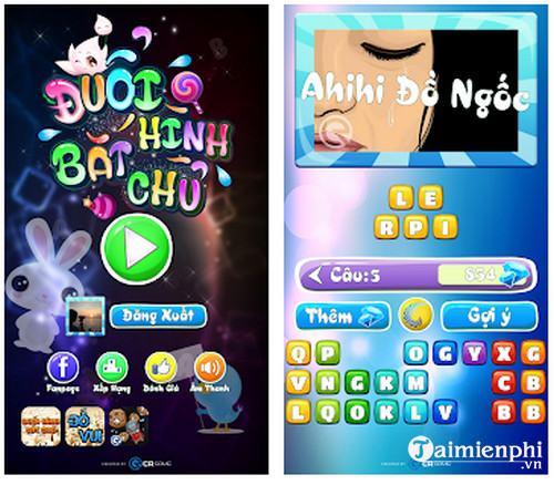 duoi hinh bat chu ahihi cho android