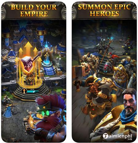 immortal warriors cho iphone