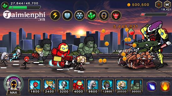 hero wars super stickman defense cho android