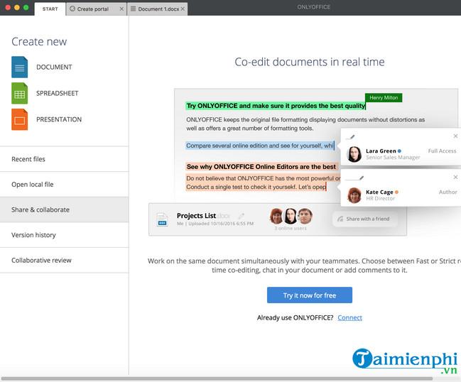 Download ONLYOFFICE Desktop Editor for Mac 4 8 8 - Ứng dụng
