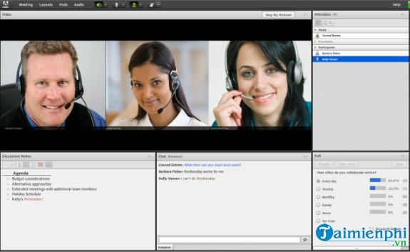 Tải Adobe Connect, phần mềm họp nhóm qua web -taimienphi vn