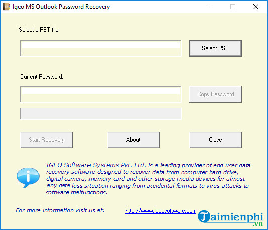 igeo ms outlook password recovery