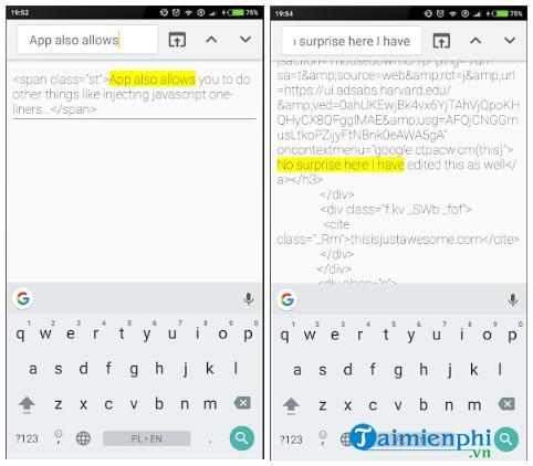 html website inspector
