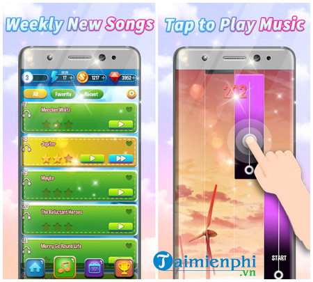 Download Magic Piano Anime Music Tiles cho iOS - Game đánh