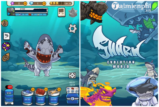 shark evolution world