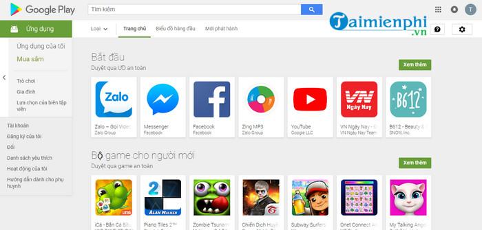 Tải CH Play APK, kho ứng dụng Google cho điện thoại và máy tính bảng,