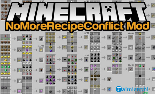 no more recipe conflict mod