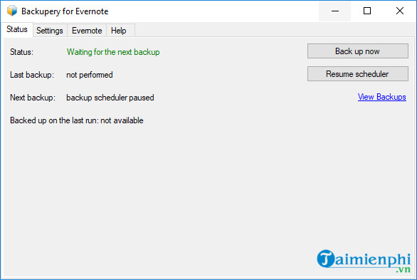 backupery for evernote