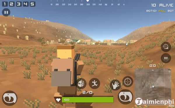 pixel s z battle gun ground