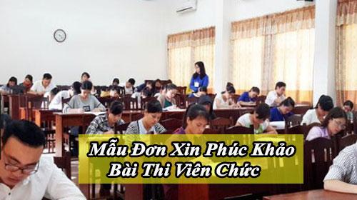 mau don xin phuc khao bai thi vien chuc