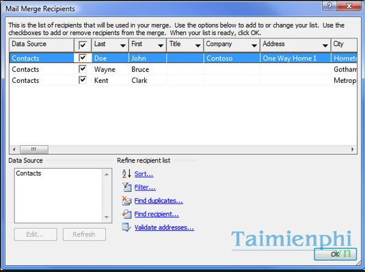 Merge Contacts in Outlook 2010