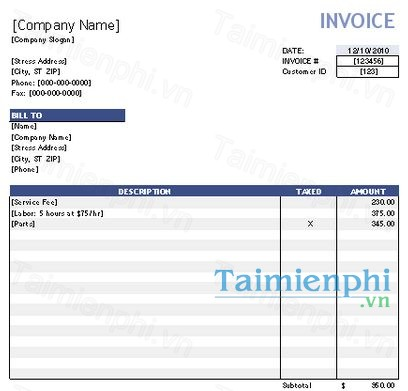 Free Invoice Template