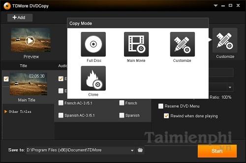 TDMore DVD Copy