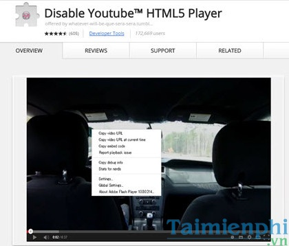 Disable Youtube™ HTML5 Player