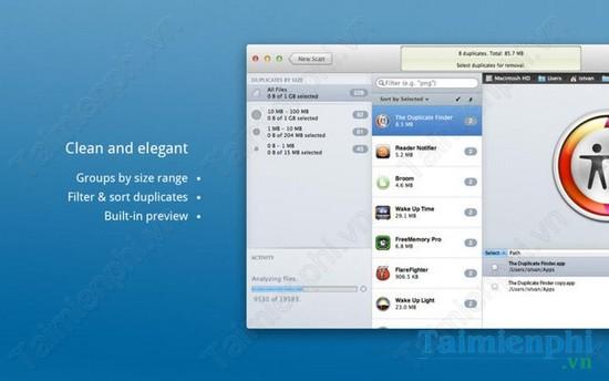 The Duplicate Finder cho Mac