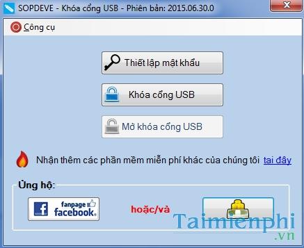 Khóa cổng USB