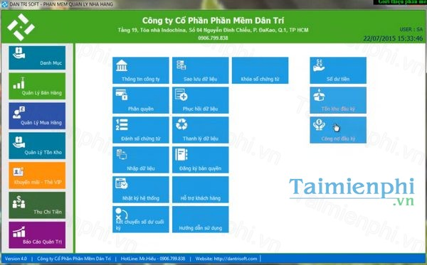 Phần mềm quản lý bán hàng Dân Trí