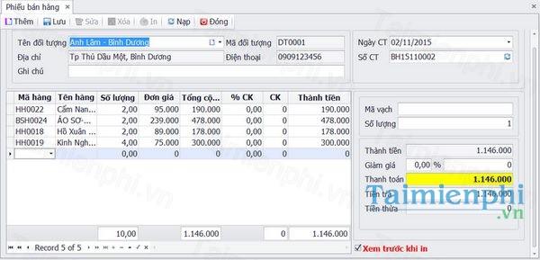 Phần mềm quản lý bán hàng MSALES