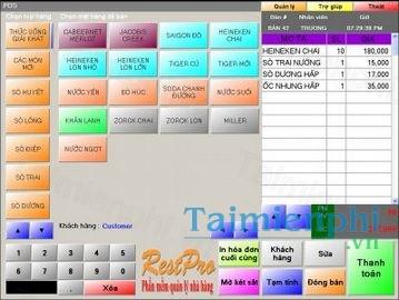 Phần mềm quản lý nhà hàng RESTAURANT PRO