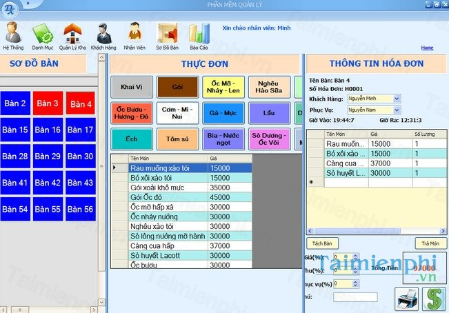 Phần mềm quản lý nhà hàng Relipos