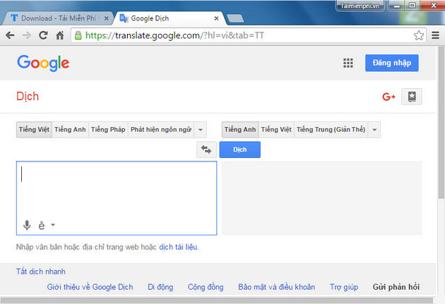 tai google dich