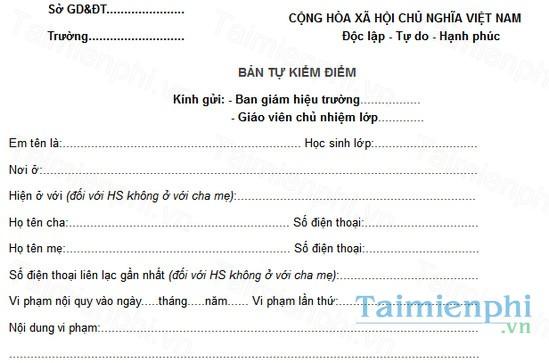 download ban tu kiem diem hoc sinh