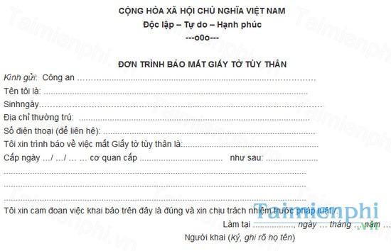 download ban tuong trinh mat giay to