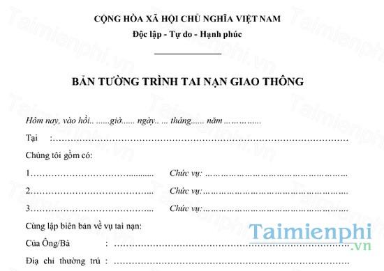 download ban tuong trinh tai nan giao thong