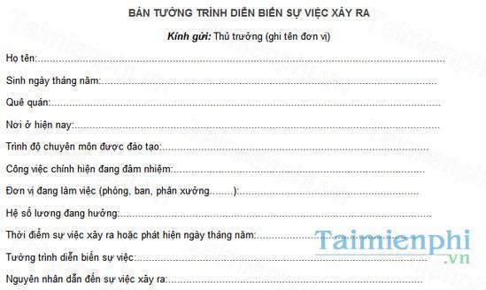 download mau ban tuong trinh dien bien su viec
